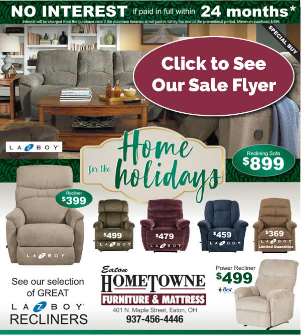 Eaton Hometowne Furniture Holiday Sale Flyer