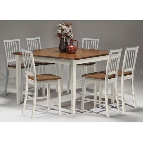 Arlington 7pc Pub Dining Set (White)