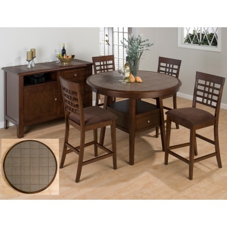 Caleb Round Counter Height Table & Stool Set