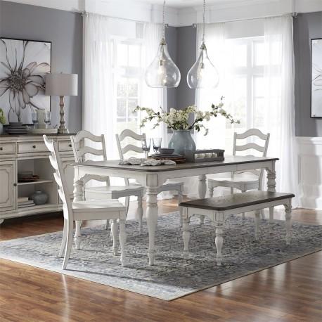 Magnolia Manor 6 Piece Leg Table Set