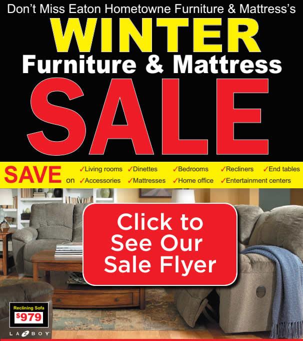 Eaton Hometowne Furniture Winter Sale Flyer