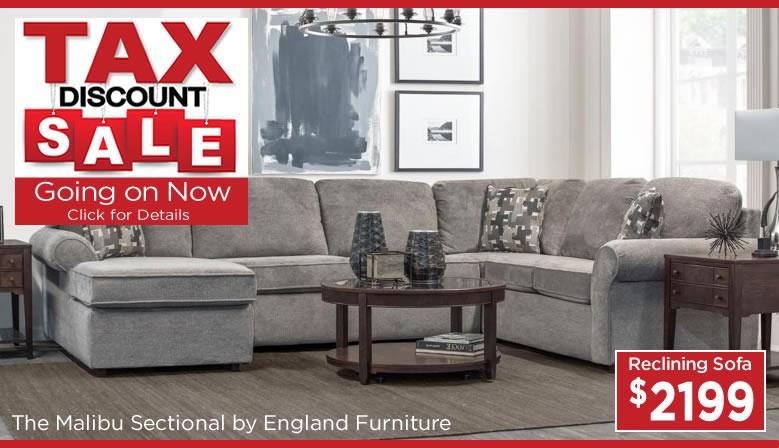 Tax Discount Sale - England Furniture
